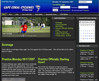 Cape Coral Cyclones Soccer Website