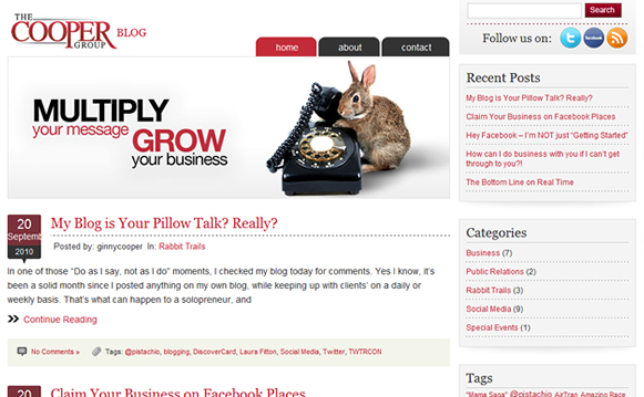 The Cooper Group WordPress Blog Design