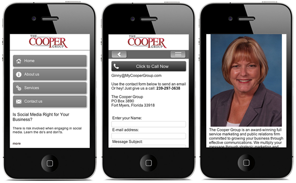 The Cooper Group - Mobile Website
