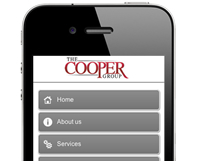 The Cooper Group - Mobile Website Design