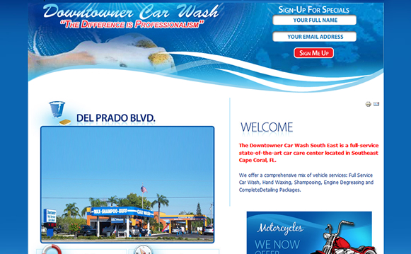 Custom Car Wash Content Management System