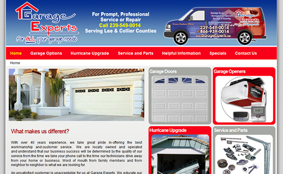 Garage Experts - Content Management System