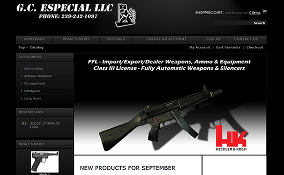 G.C. Expecial Firearm Website