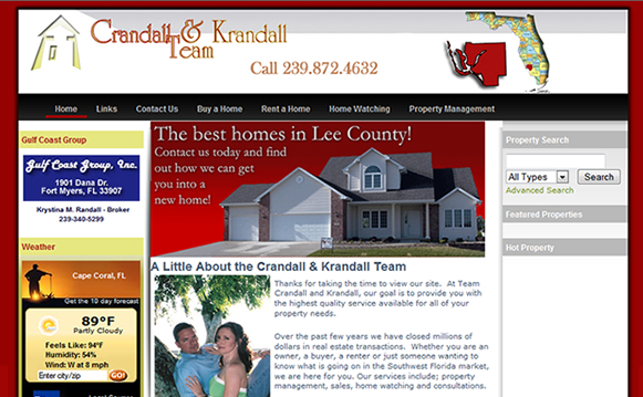 Gulf Coast Group Realty Website Design