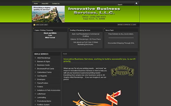 Innovative Business Services Custom Website Design