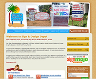 Sign and Design Depot Website Design