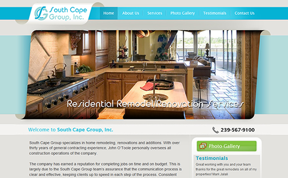 South Cape Group Website Design