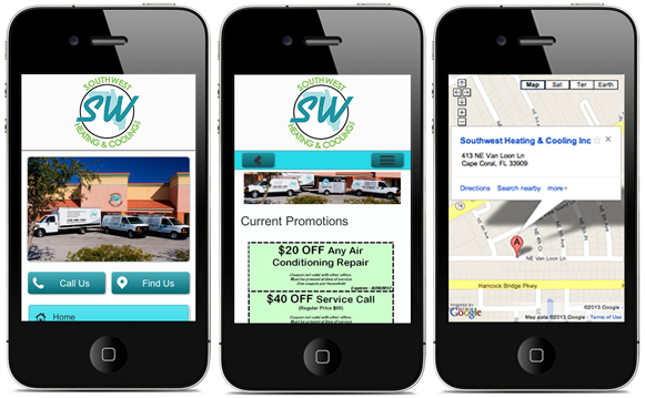 Southwest Heating & Cooling - Mobile Website