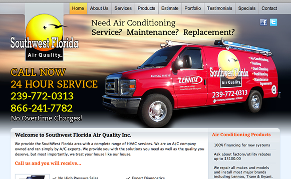 Air Conditioning Company Website Marketing