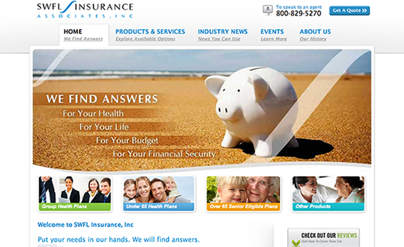 Custom Insurance Websites