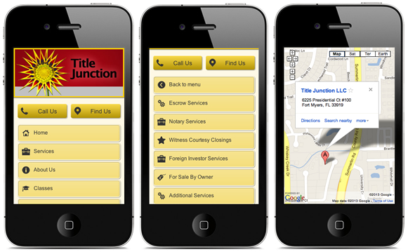 Title Junction Mobile Website Design