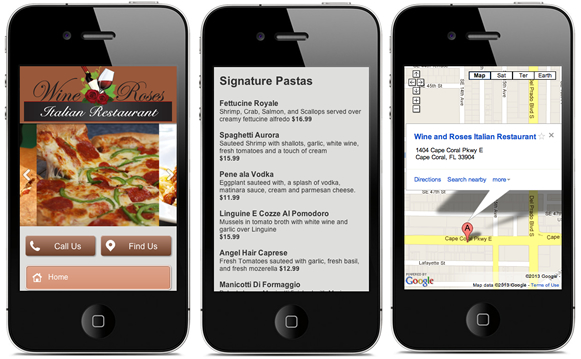 Restaurant Mobile Website Design