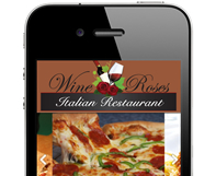 Wine and Roses Mobile Website