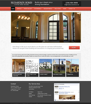 Current website projects for Richardson custom homes