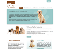 Pet Lost Custom Website Design
