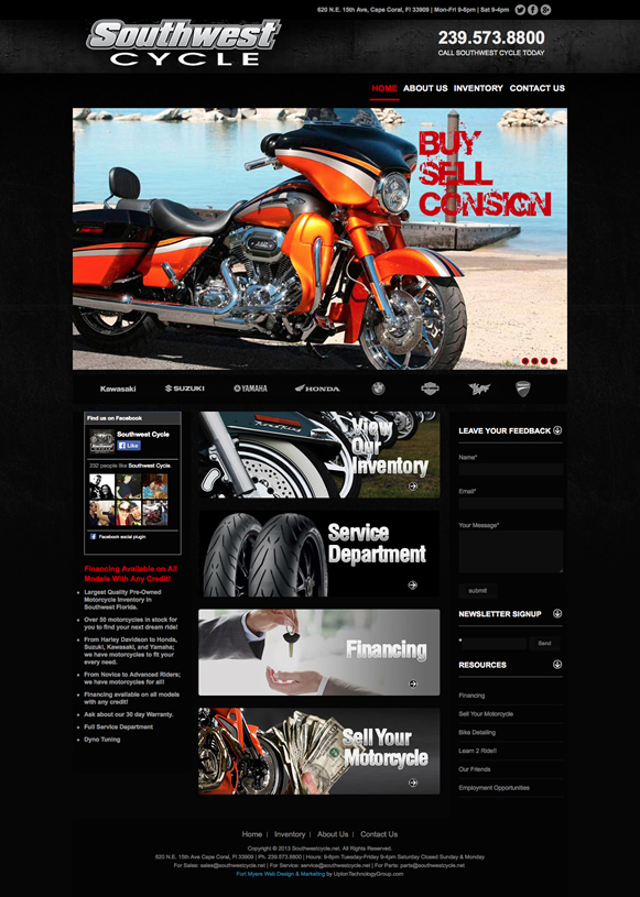 Southwest Cycle WordPress Design