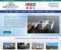 IMM Quality Boat Lifts Web Design