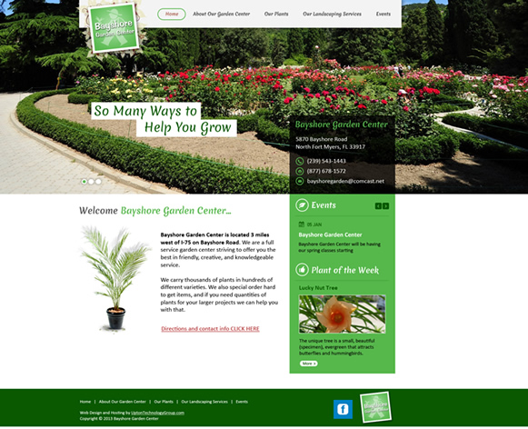 Bayshore Garden Center Website