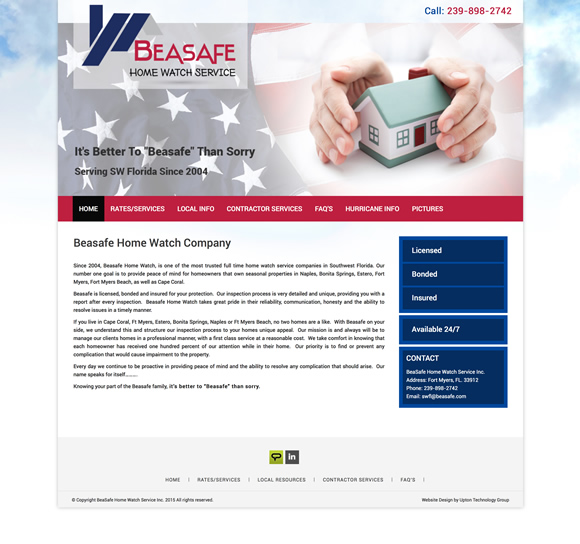 Beasafe Home Watch Website